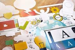 Gráfico y diseño web Fotografía de archivo libre de regalías