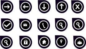 Gráficos & ícones da navegação para Web site Imagens de Stock