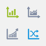 Gráficos - ícones do granito ilustração stock