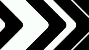 Gráficos abstractos del movimiento del cgi y fondo animado con las figuras blancas y negras ilustración del vector