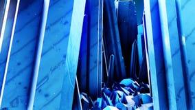 Gráficos abstractos del movimiento del cgi con un bosque de cristales libre illustration