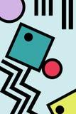 Gráficos abstratos do estilo do pop art de 80s memphis Imagens de Stock
