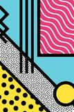 Gráficos abstratos do estilo do pop art de 80s memphis Fotos de Stock Royalty Free