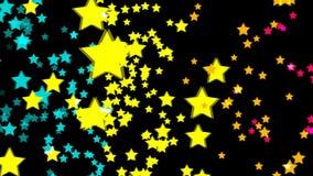 Gráficos abstratos do movimento do cgi e fundo animado com estrela ilustração do vetor