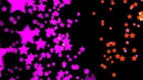 Gráficos abstratos do movimento do cgi e fundo animado com estrela ilustração stock