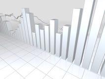 Gráficos brancos do mercado de valores de acção Foto de Stock