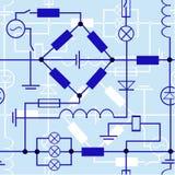 Gráficos, carta y fórmulas de la electricidad. Fotografía de archivo libre de regalías