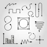 Gráficos & cartas ilustração stock