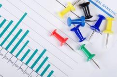 Gráficos, cartas com teclas multi-coloridas Imagem de Stock Royalty Free