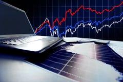 Gráficos, cartas, tabela do negócio Fotografia de Stock Royalty Free