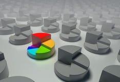 Gráficos circulares. Fotos de Stock
