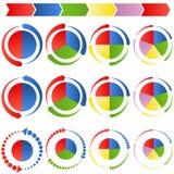 Gráficos circulares de proceso de la flecha Imagen de archivo libre de regalías
