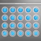 5 10 15 20 25 30 35 40 45 50 55 60 65 70 75 80 85 90 95 gráficos circulares del 100 por ciento Infographics del vector del porcen Imagen de archivo
