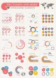 Gráficos circulares y más Imágenes de archivo libres de regalías