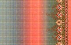 Gráficos coloridos digitales de la imagen geométrica del modelo del color del kurti del extracto de la foto stock de ilustración