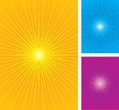 Gráficos coloridos do starburst Foto de Stock