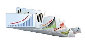 Gráficos com as setas nos arquivos Imagens de Stock Royalty Free