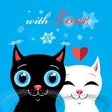 Gráficos com gatos fascinados Fotos de Stock Royalty Free