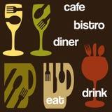 Gráficos comendo e bebendo Imagem de Stock Royalty Free