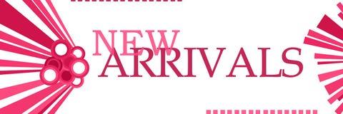 Gráficos cor-de-rosa das chegadas novas horizontais imagens de stock