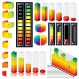 Gráficos customizáveis e escalas Fotos de Stock
