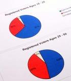 Gráficos da eleição Imagens de Stock