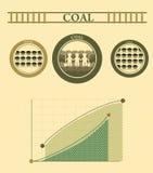 Gráficos da informação de carvão do vintage Imagem de Stock Royalty Free
