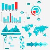 Gráficos da informação, gráficos de negócio Fotografia de Stock Royalty Free