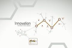 Gráficos da inovação e da pesquisa de Busines Imagens de Stock Royalty Free