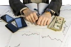 Gráficos da moeda Imagens de Stock