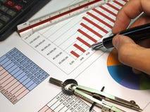 Gráficos das vendas Imagem de Stock Royalty Free