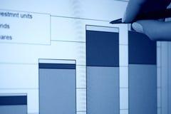 Gráficos de asunto en el monitor del lcd. Fotos de archivo libres de regalías