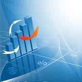 Gráficos de barra abstratos Fotos de Stock