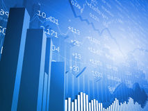 Gráficos de barra com troca global ilustração stock
