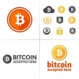 Gráficos de Bitcoin ilustración del vector