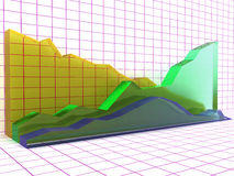 Gráficos de cristal â1 Fotos de archivo libres de regalías