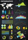 Gráficos de Infographic Imagem de Stock