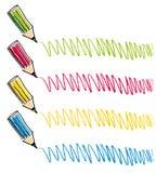 Gráficos de lápices del color Imagen de archivo libre de regalías