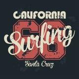 Gráficos de la camiseta de Los Ángeles, California Tipografía del vintage, gráficos de la camiseta, cartel, bandera, materia text ilustración del vector