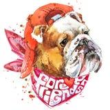 Gráficos de la camiseta del compañero del perro libre illustration