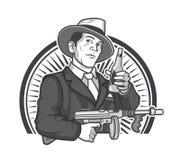 Gráficos de la cerveza del gángster Imágenes de archivo libres de regalías