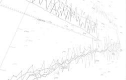Gráficos de la economía del vector en el fondo blanco EPS10 stock de ilustración