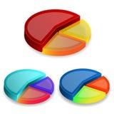 gráficos de la empanada 3d en el fondo blanco ilustración del vector