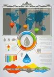 Gráficos de la información Imagenes de archivo