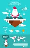 Gráficos de la información de Papá Noel y del tiempo de las nevadas libre illustration