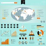 Gráficos de la información del viaje Fotografía de archivo libre de regalías