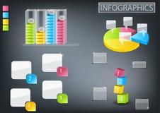 Gráficos de la información fijados foto de archivo
