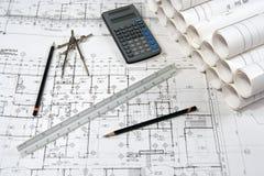Gráficos de la ingeniería y de la configuración Foto de archivo libre de regalías