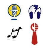 Gráficos de la insignia para la industria musical Foto de archivo libre de regalías
