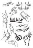Gráficos de la mano Fotos de archivo libres de regalías